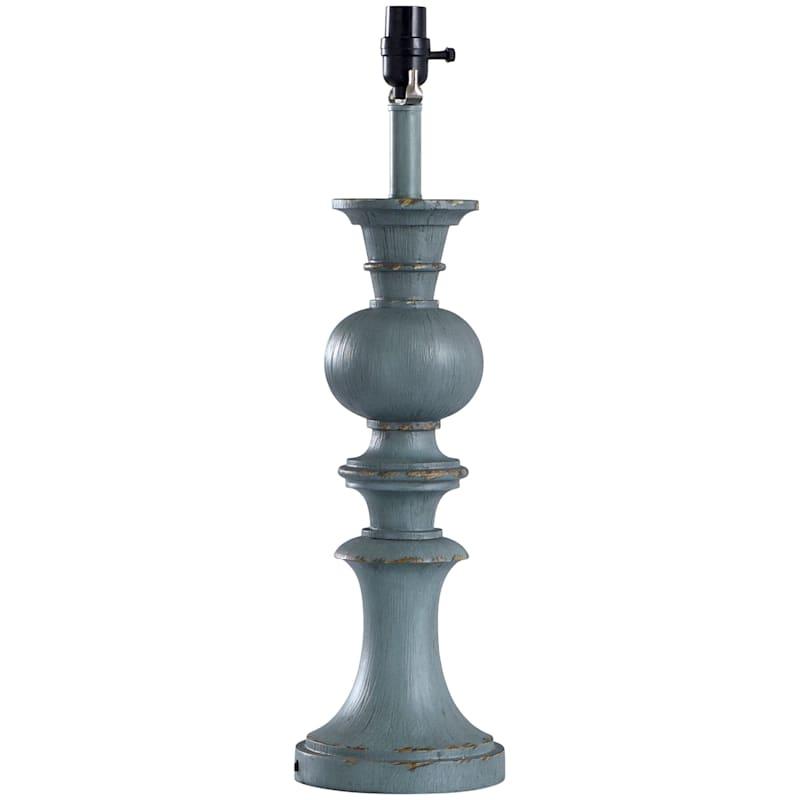 24in. Gustavian Blue Vintage Table Lamp