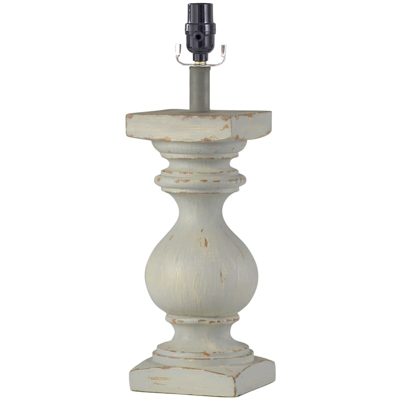 19in. Light Blue Distressed Table Lamp