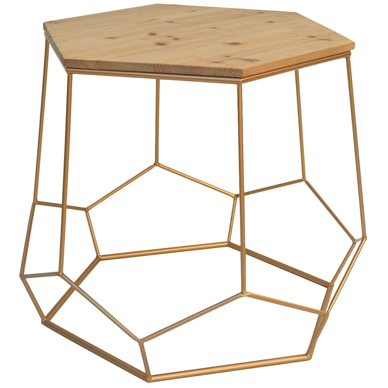NST 24  GOLD HEXAGON TABLE
