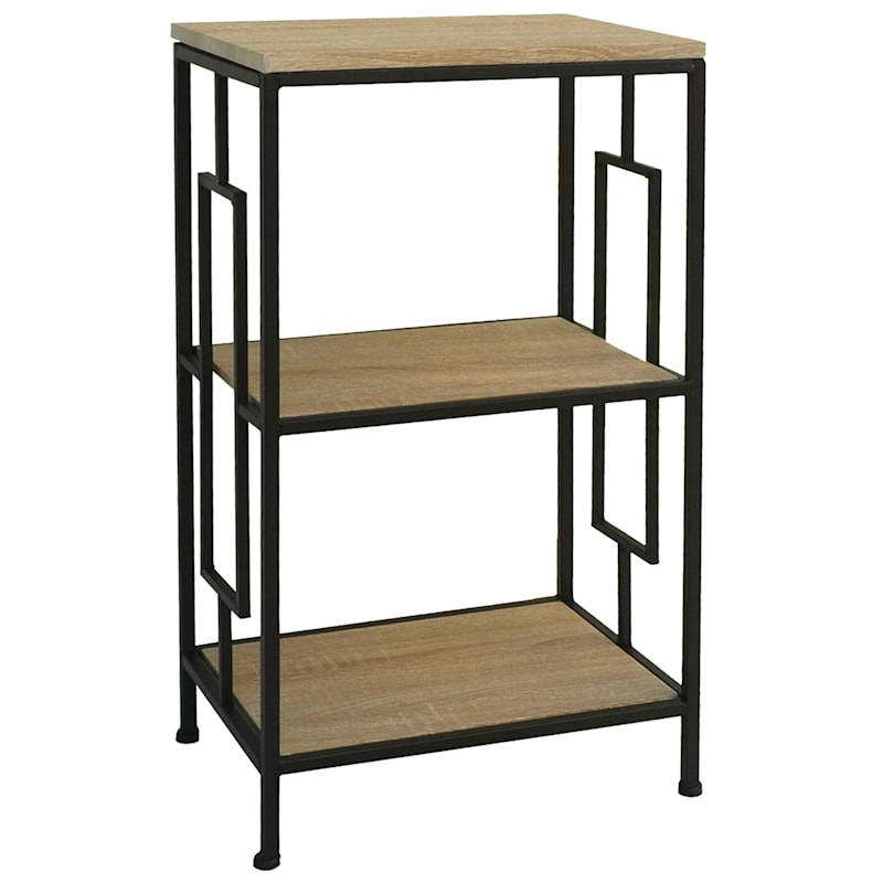 """4 Tier Wood Board Metal Shelf, 39"""""""
