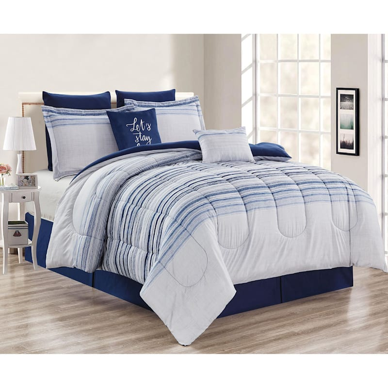 NALEDI 8PC KING COMFORTER SET