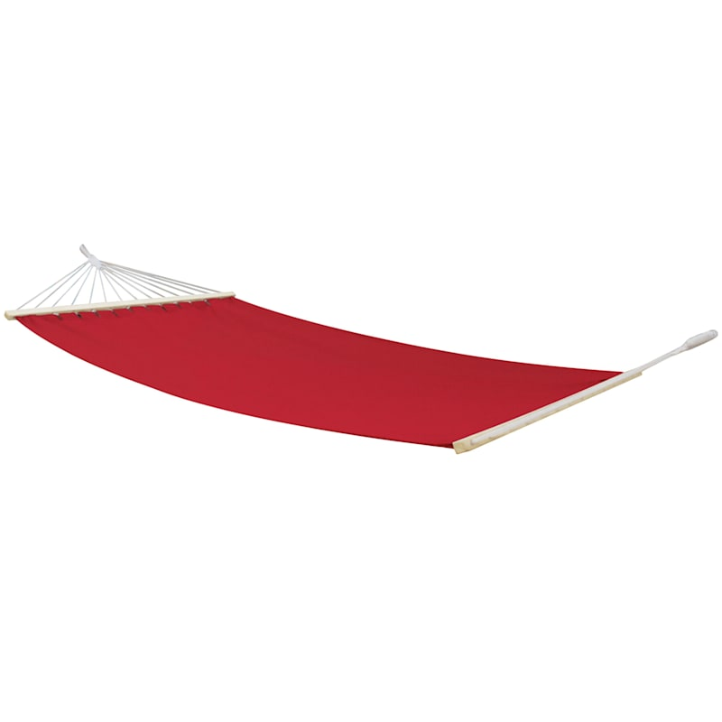 Outdoor Red Hammock with Spreader Bars