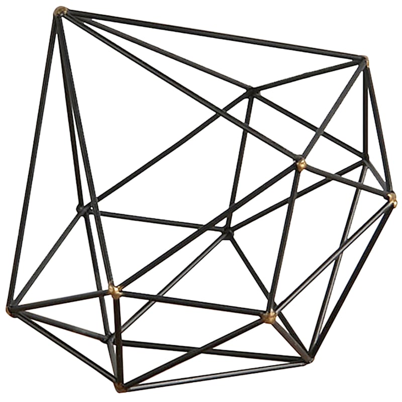 "Metal Wire Diamond Sculpture, 8"" x 9"""