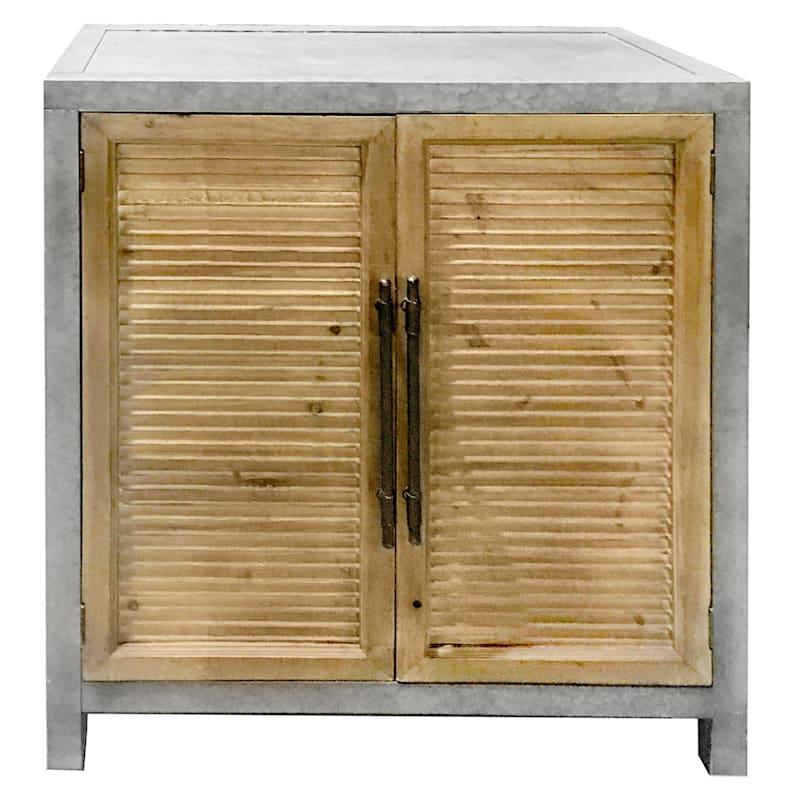 """Bernice 2 Door Shutter Cabinet, 35"""""""