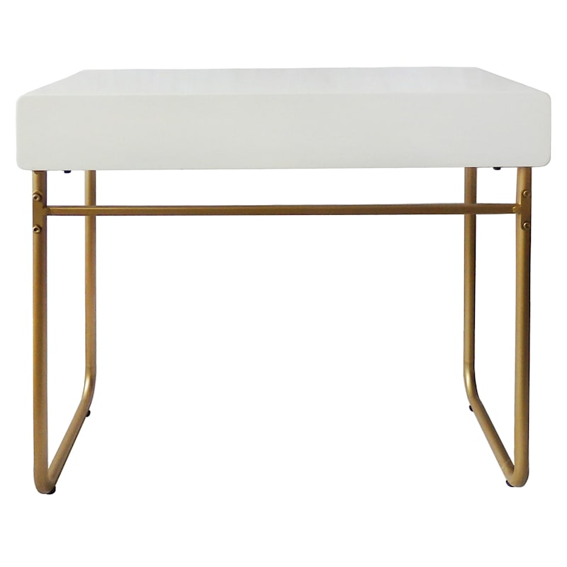 Instaglam White Gold Base Study Desk