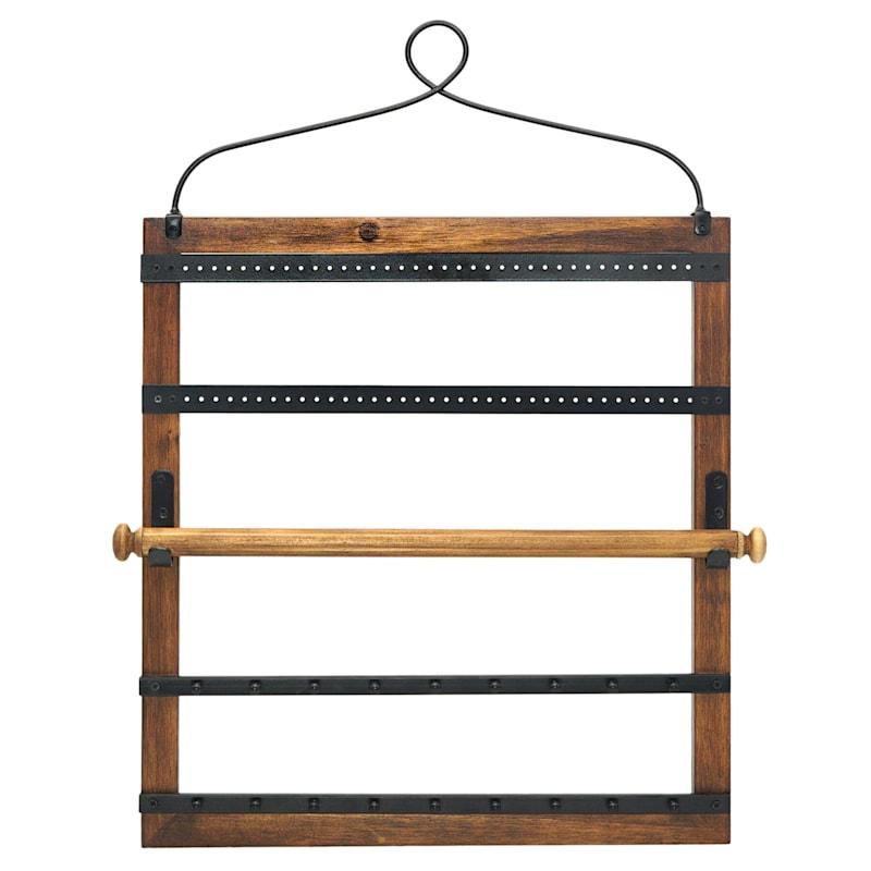 16X22 Wood Hanging Jewelry Organizer