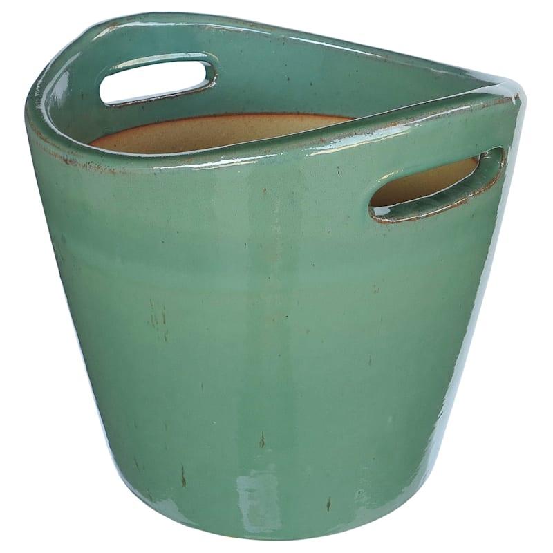 Bushal Ceramic Planter 18in. Green