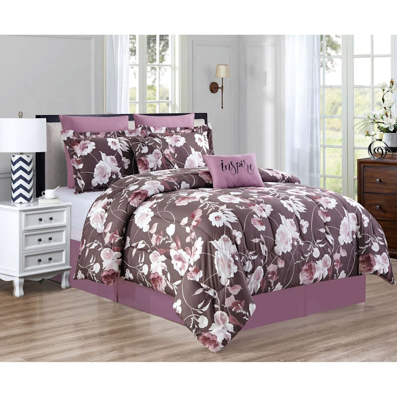 8-Piece Floris Comforter Set Queen