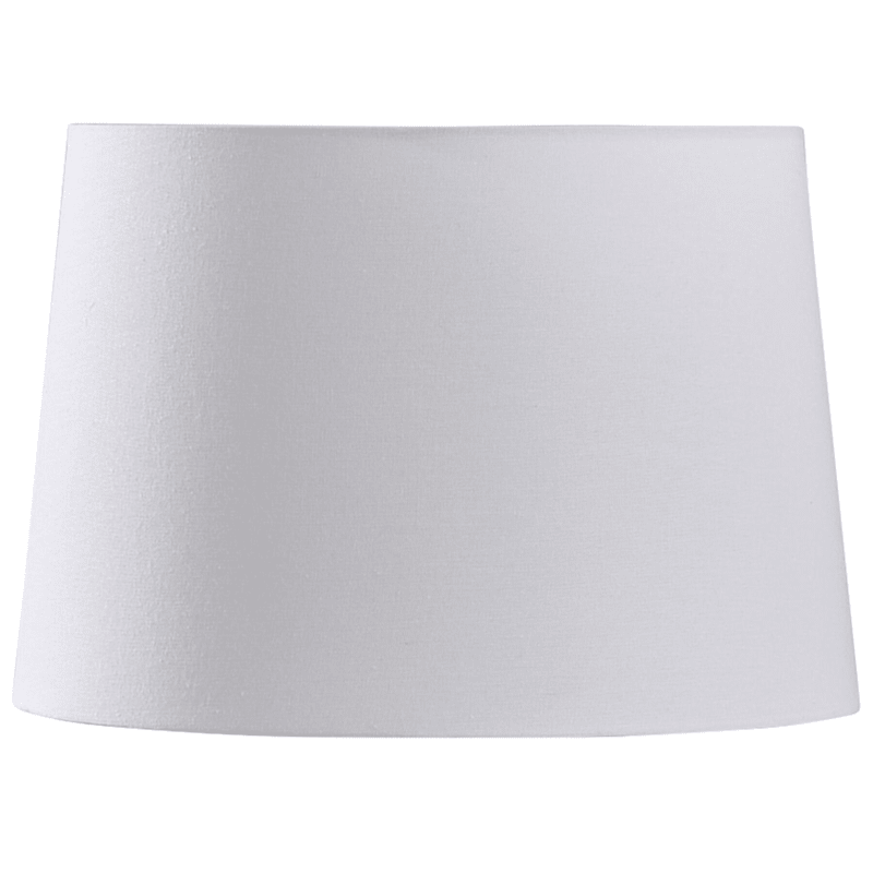14X16X11White Drum Linen Blend Table Shade