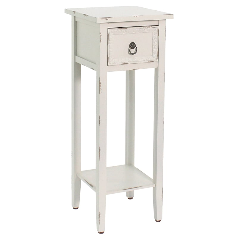White Wood Telephone Table