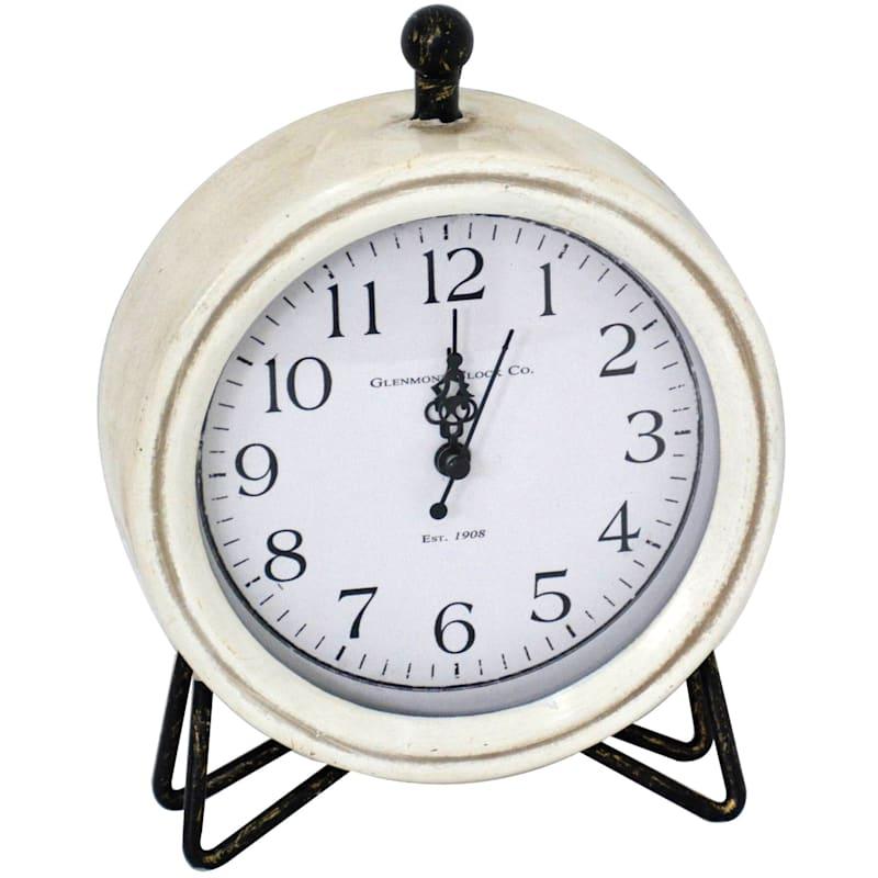 6X8 Metal Cream Clock