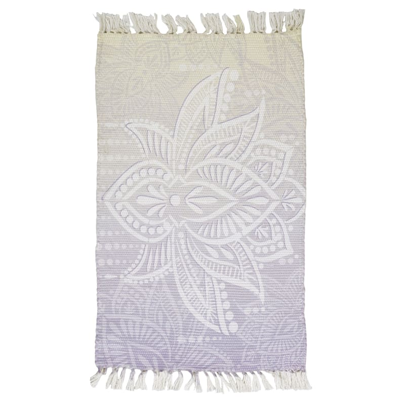 """Inner Chi Printed Rug with Fringe, 2'3"""" x 3'9"""""""