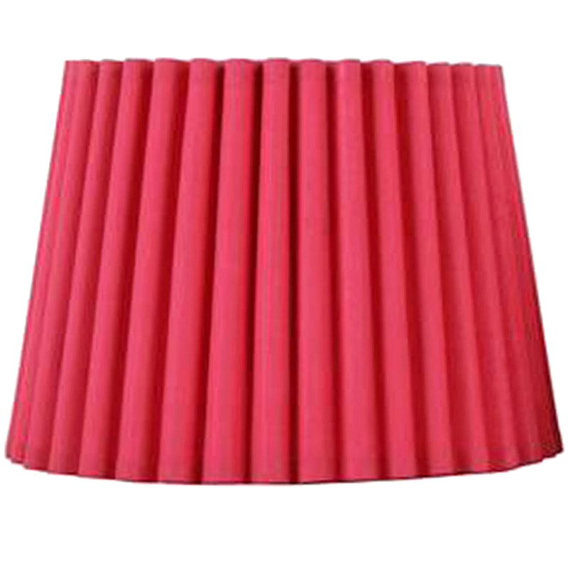 Pink Pleated Lampshade, 8x10-in.