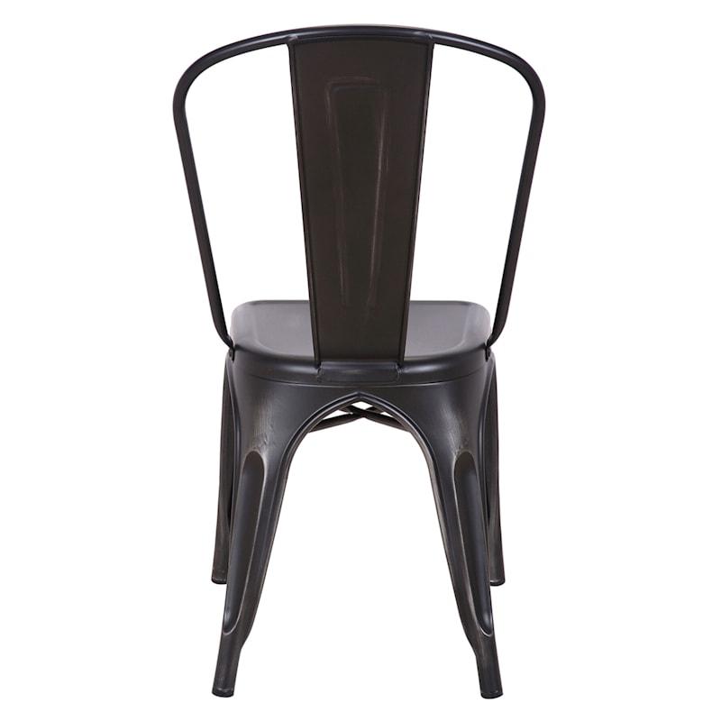 Idris Black Metal Dining Chair