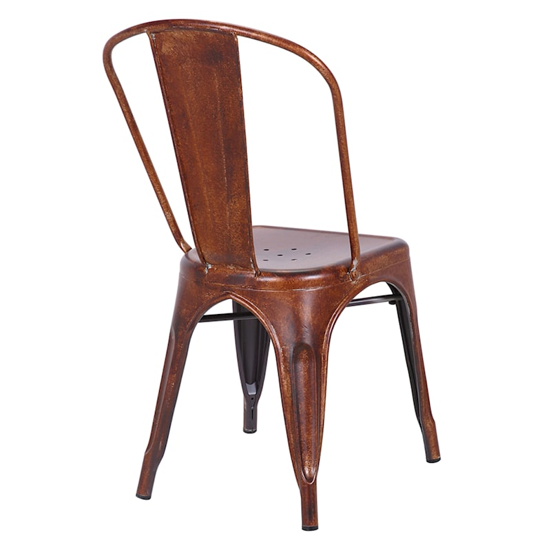 Idris Red Metal Dining Chair