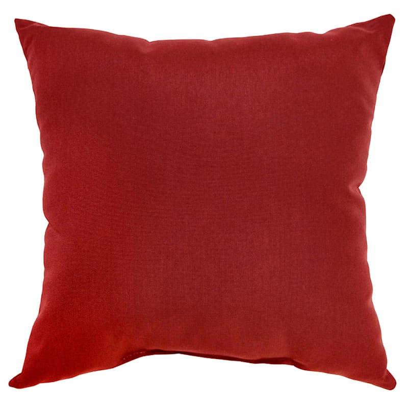 "Brick Canvas Outdoor  Square Pillow, 16"""