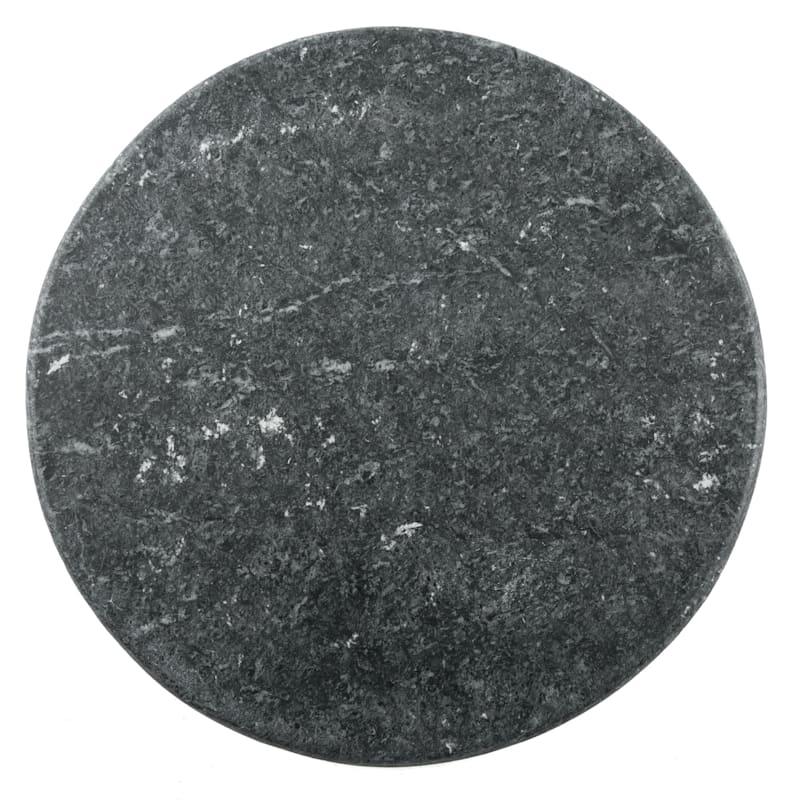 Round Green Marble Serve Board