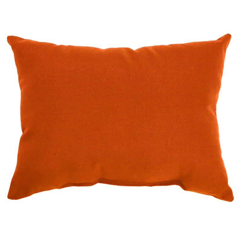 Orange Canvas Outdoor Oblong Pillow, 12x16