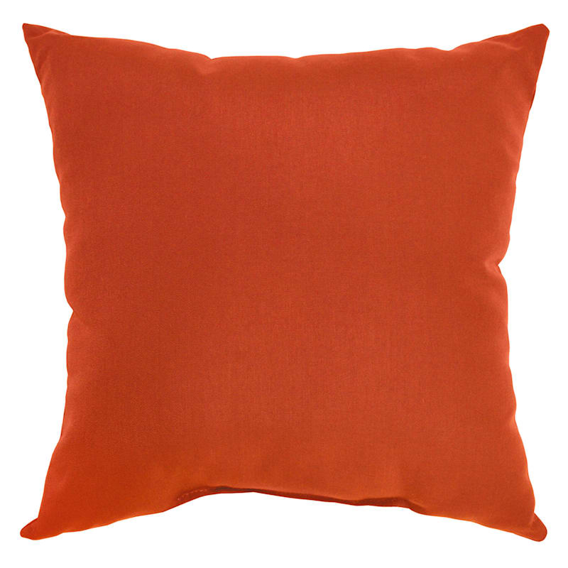 Orange Canvas Outdoor Square Pillow, 20""