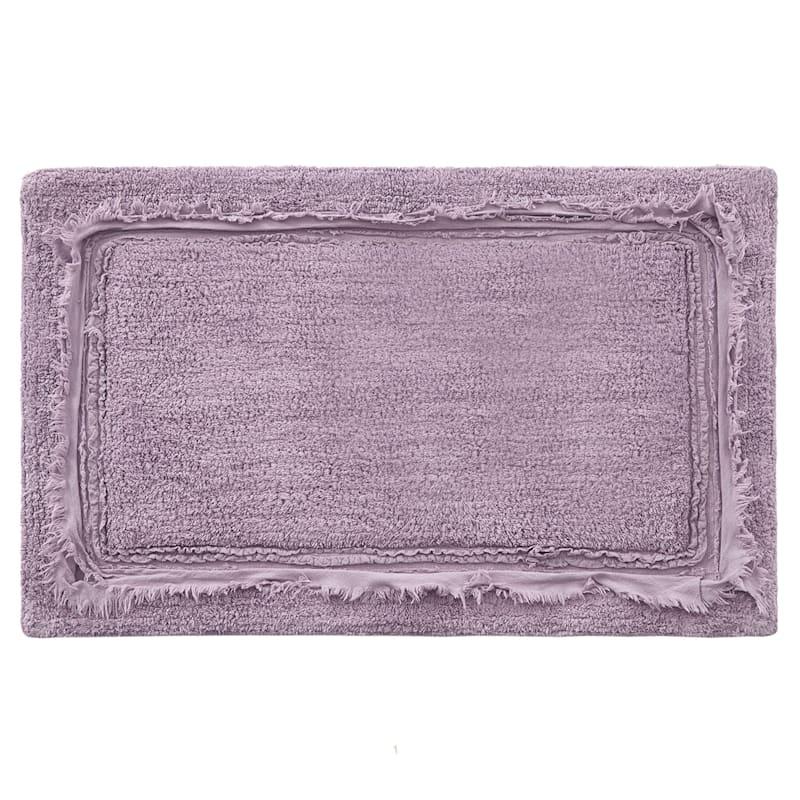 Lavender Ruffle Frame Bath Rug