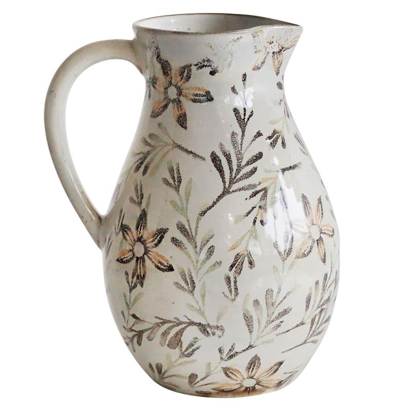 Ceramic Floral Printed 8in. Jug