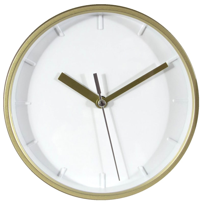 6X6IN GOLD ROUND CLOCK