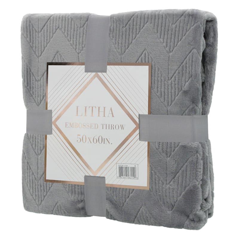Grey Litha Embossed Throw