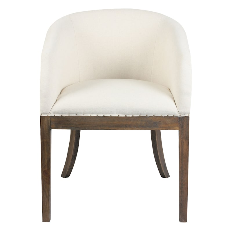 Frost Ivory Deconstructed Chair With Exposed Wood Frame