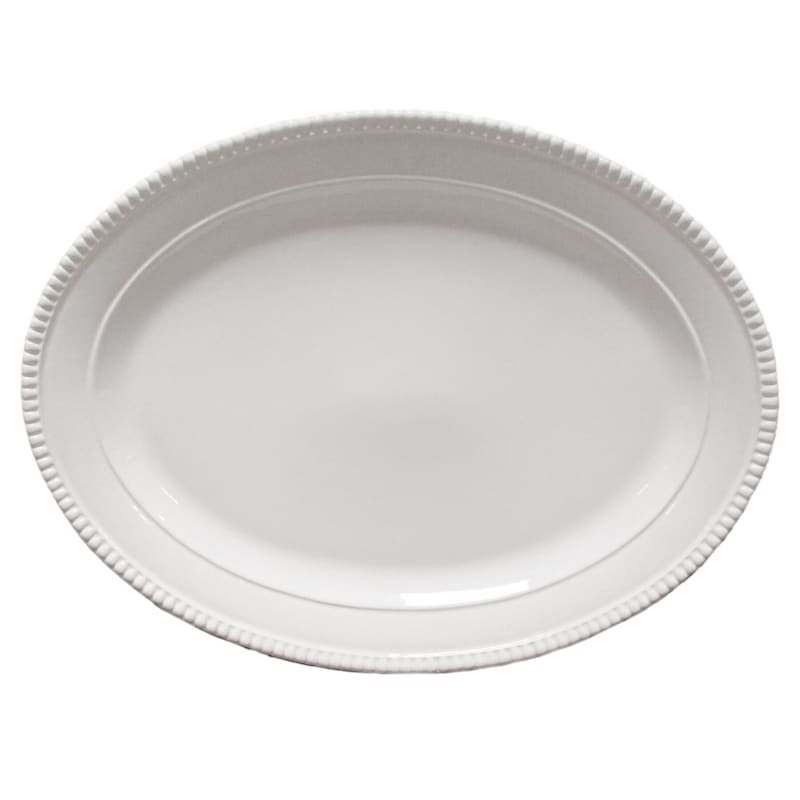 Large Ceramic White Pearl Platter