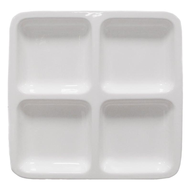 Medium Ceramic Four Section Square Plate