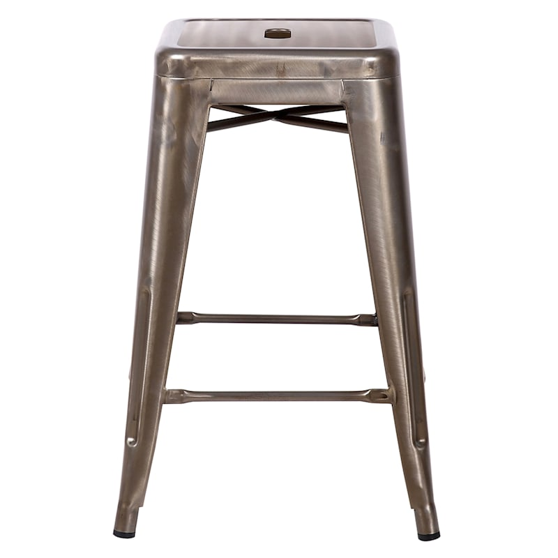 """Copper Metal Counter Stool, 24"""""""