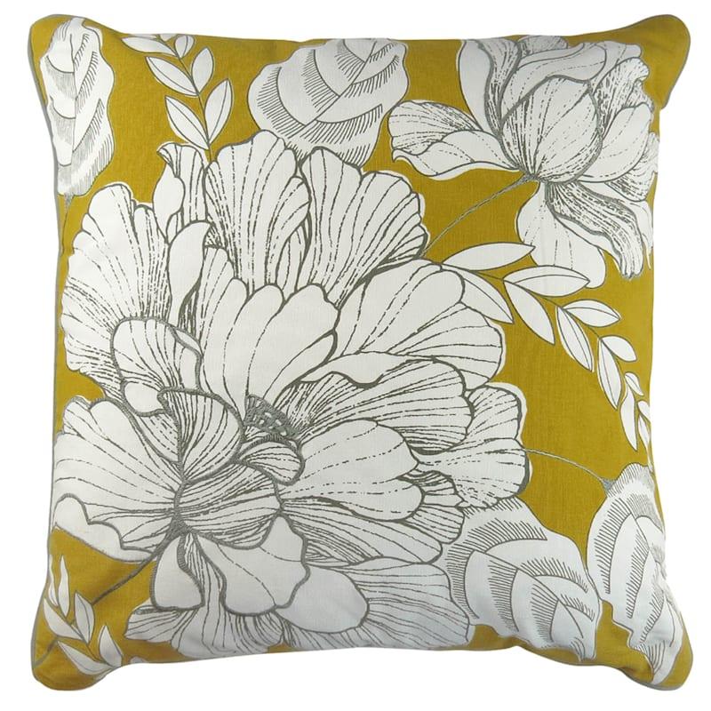 Natalie Oversize Peony Pillow 18x18 At Home