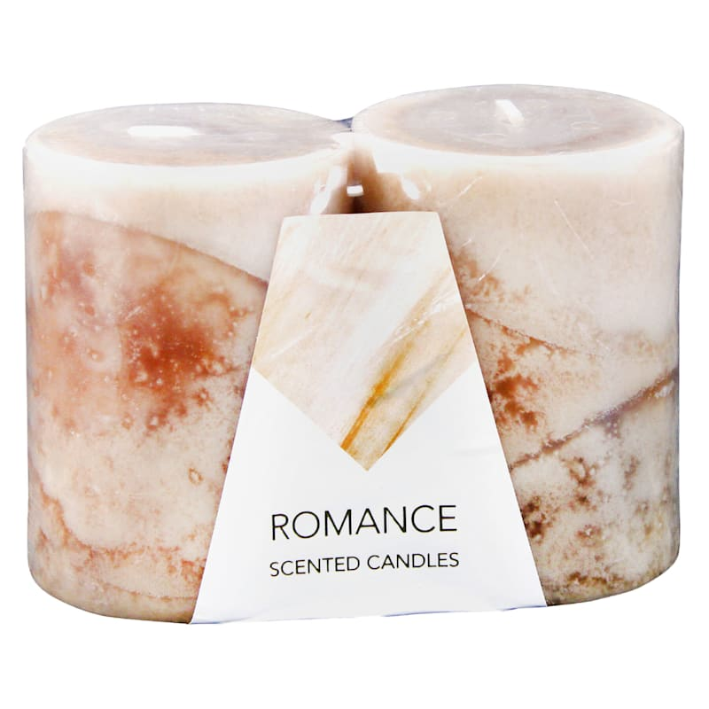 3X4 2-Pack Pillar Candles
