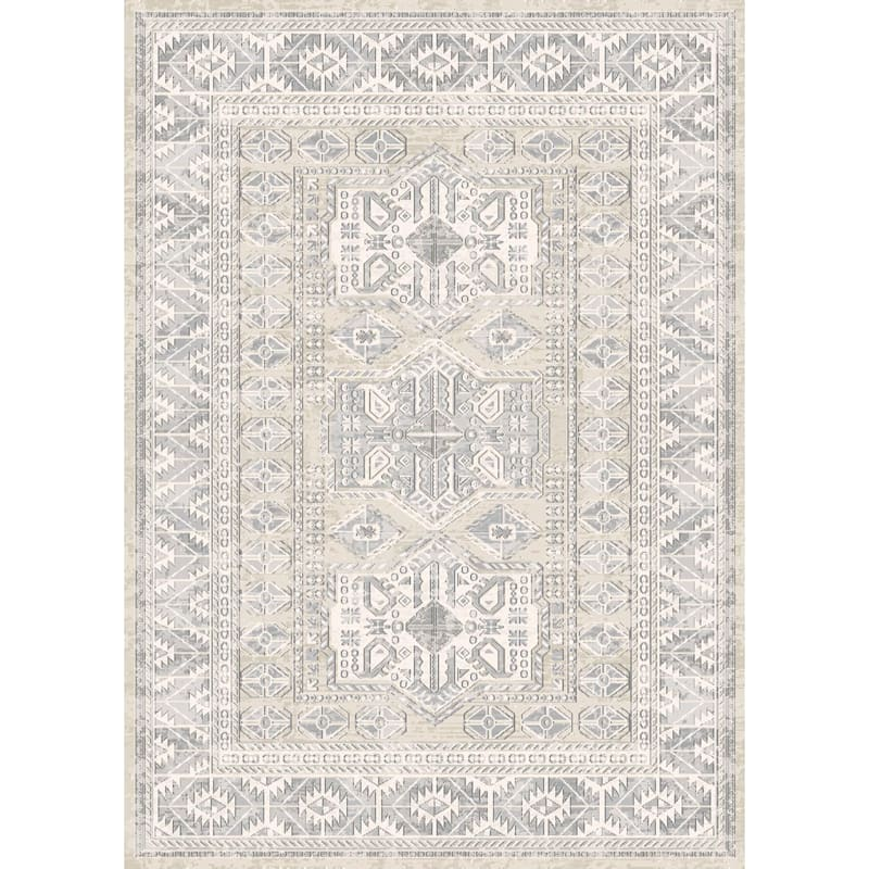 D452 Shaydon Grey Multi Woven Area Rug 3x5 At Home