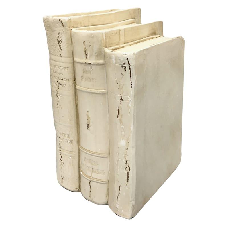 8X6 Resin White Stacked Books