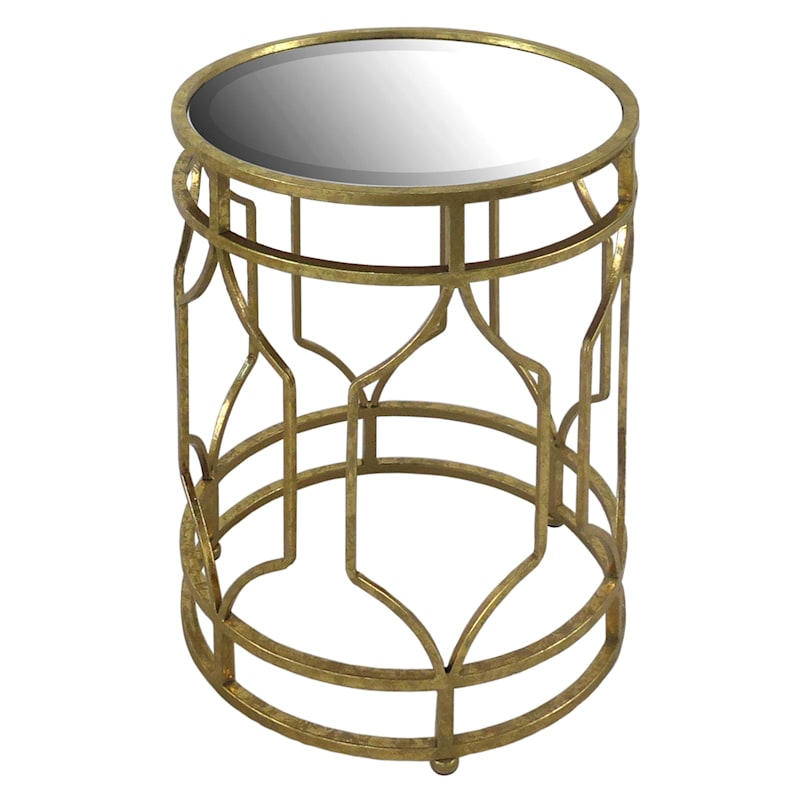 Gold Metal Accent Table, Small