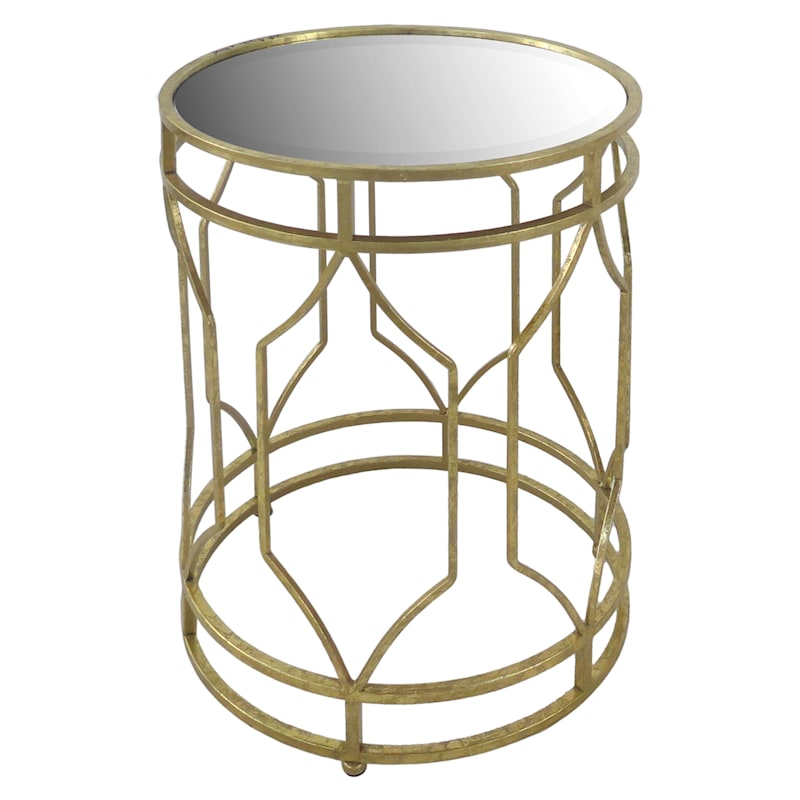 Gold Metal Accent Table, Large