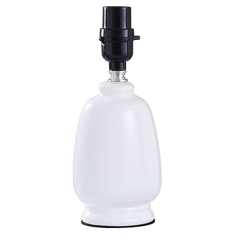 10in. White Ceramic Mini Accent Lamp