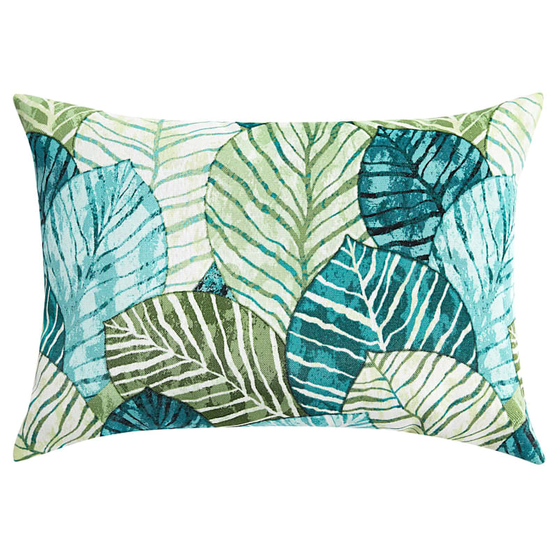 Green Belize Outdoor Oblong Pillow, 12x16