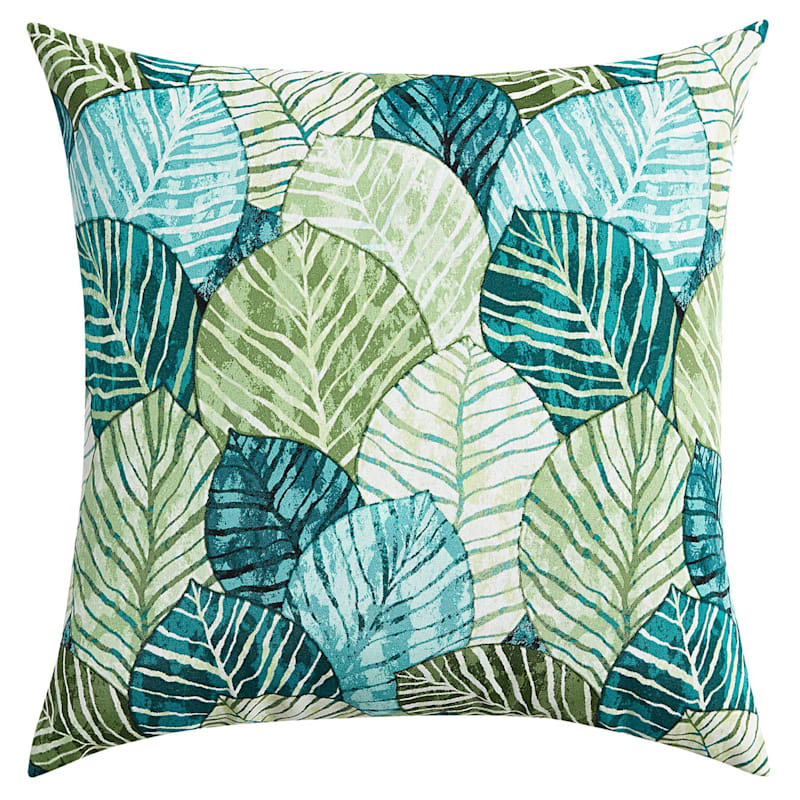 """Green Belize Outdoor Square Pillow, 20"""""""