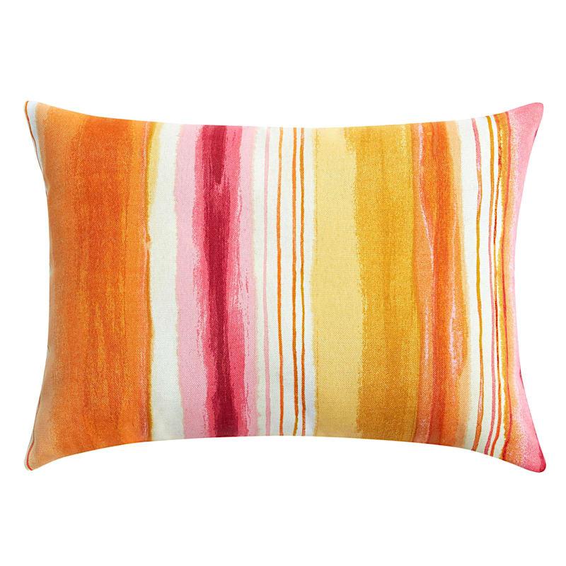 "Sunrise Ombre Stripe Outdoor Rectangle Pillow, 16"""