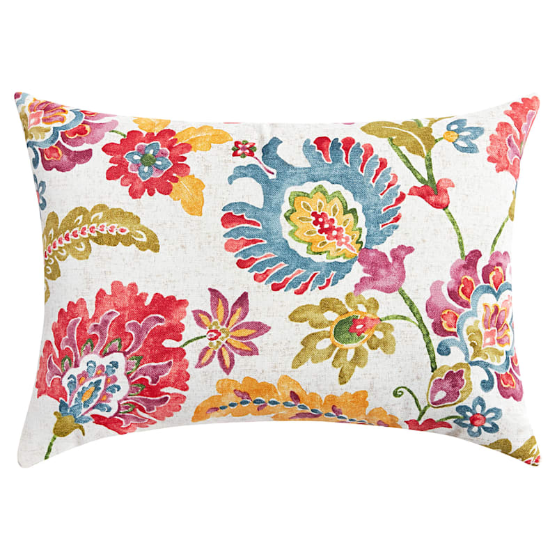 Folk Dance Multi Outdoor Oblong Pillow, 12x16