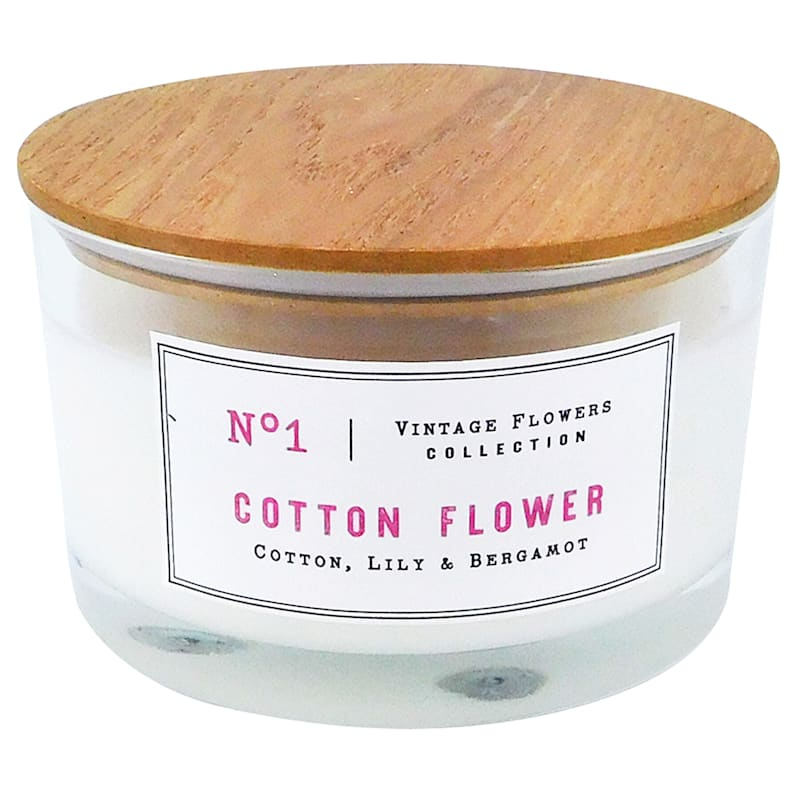 15oz 3-Wick Cotton Flower Jar Candle