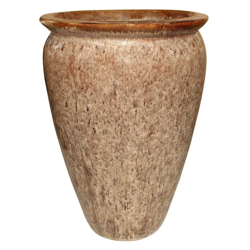 Arcadia Ceramic Planter 20.9in. Cappuccino