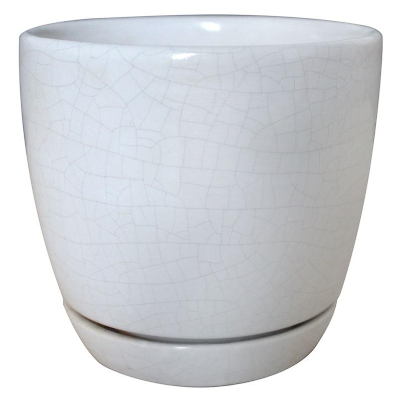 6in. Ceramic Chelsea Pot White