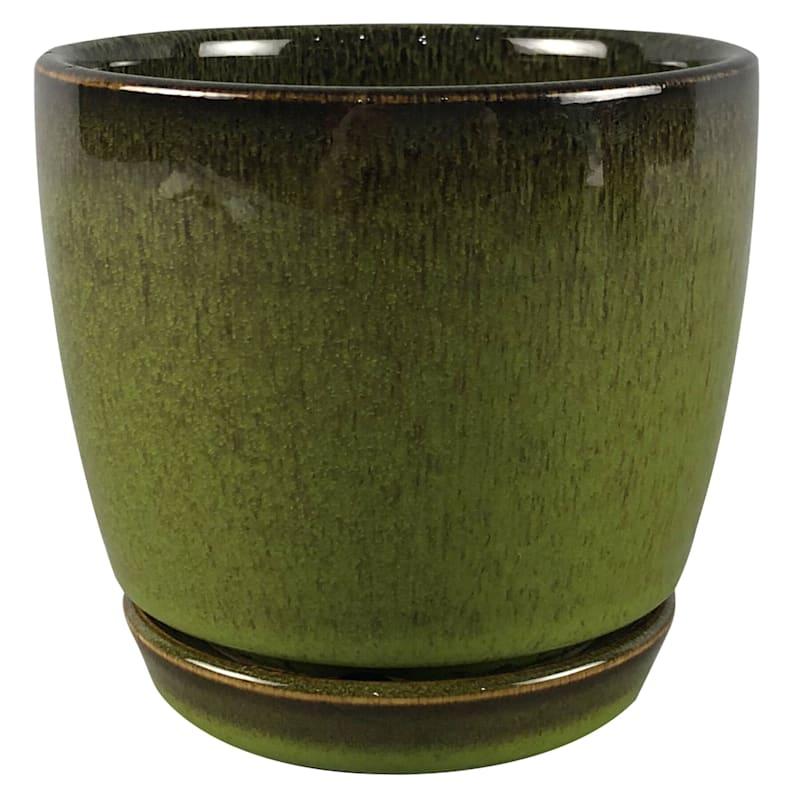4.5in. Ceramic Chelsea Pot Green