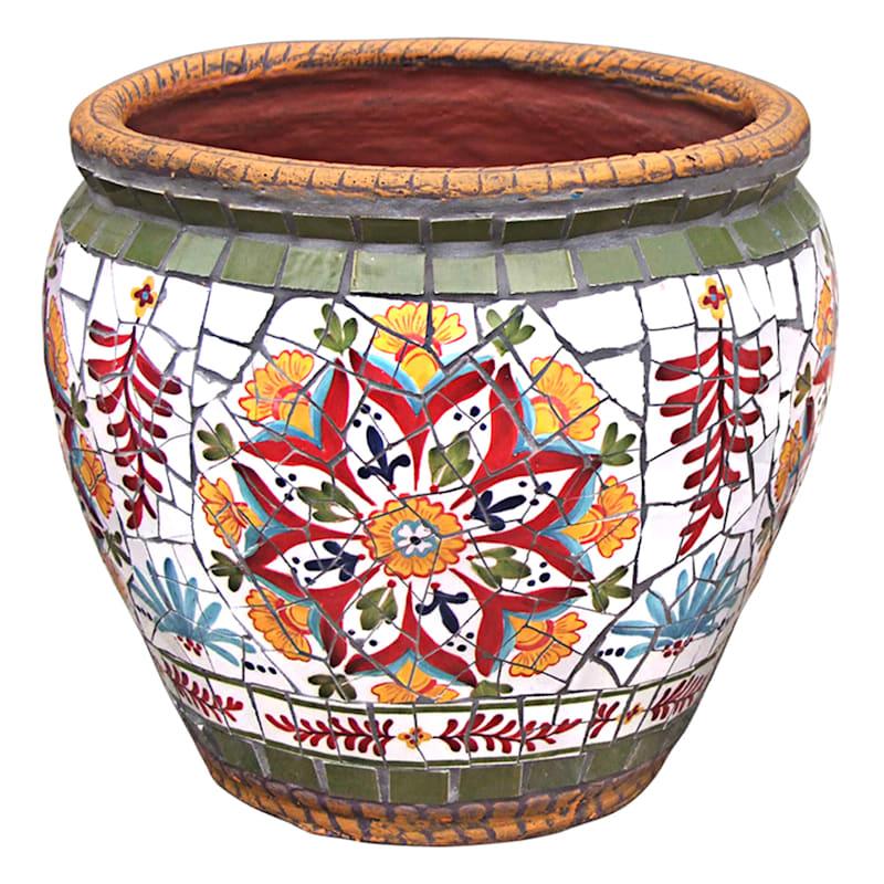 "Provence Mosaic Planter, 14.5"""