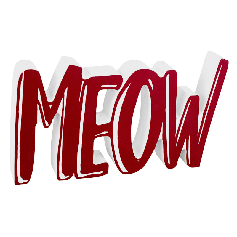 MEOW MDF SIGN
