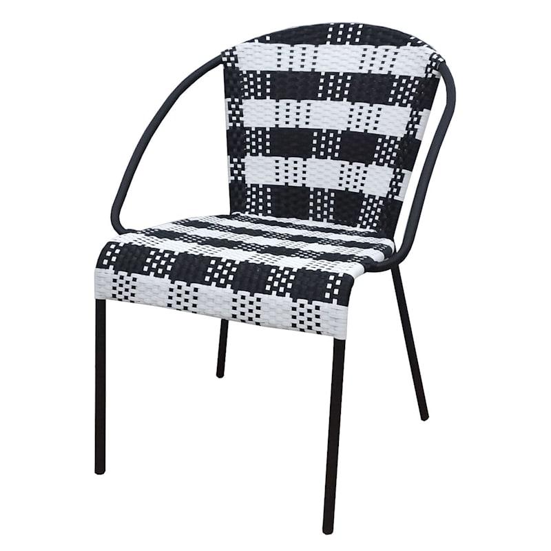 Grammercy Black Steel Slat Outdoor C-Table