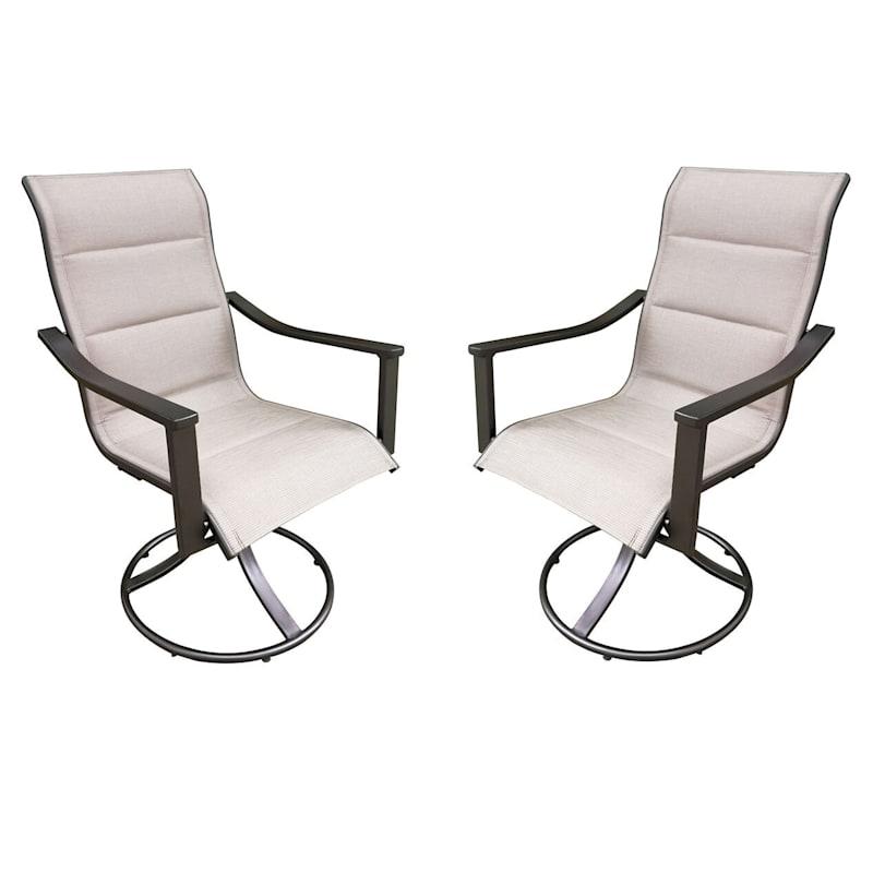 Avalon Outdoor Steel Swivel Lounge Chair & Cushion